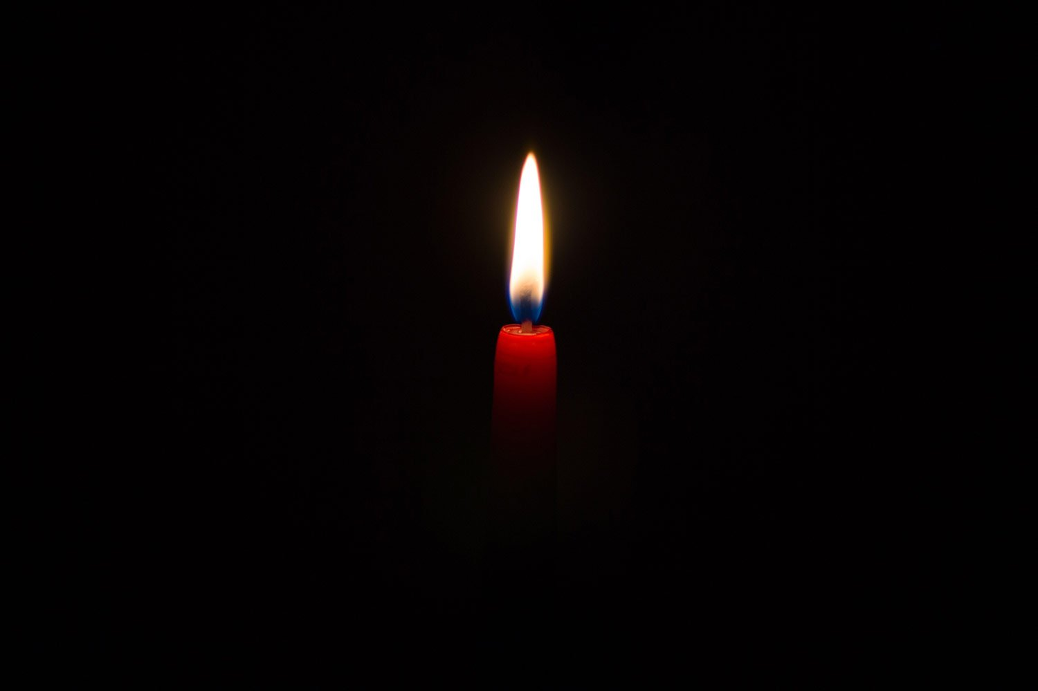 Bereavement & grief signified by a burning candle
